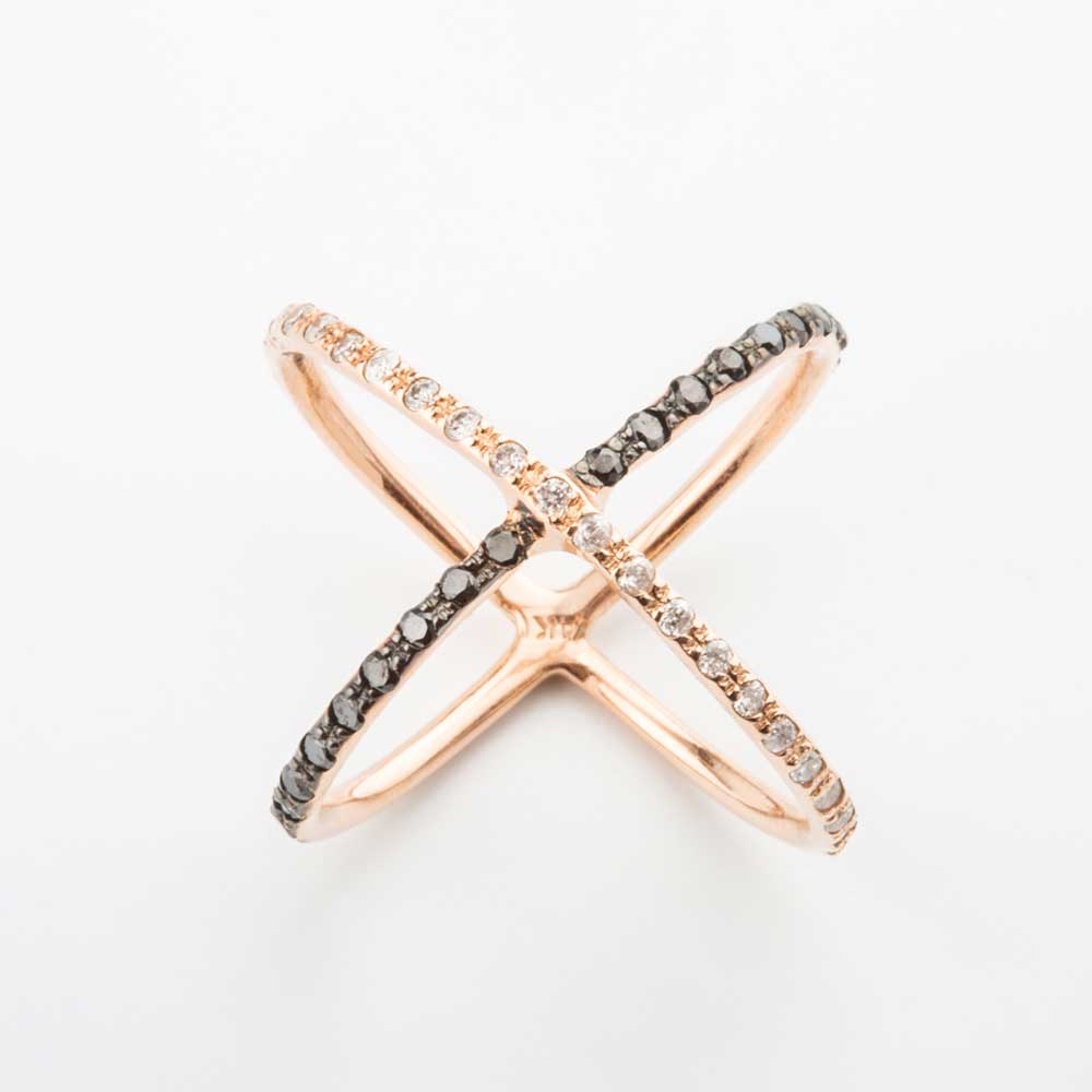 rose gold v shape chocolate diamond ring christine k jewelry. Black Bedroom Furniture Sets. Home Design Ideas