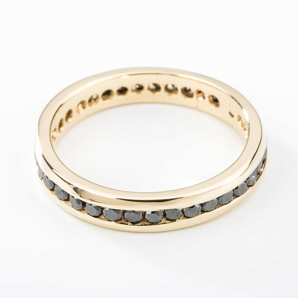 gold yellow sapphire image band product gemstone bands eternity blue