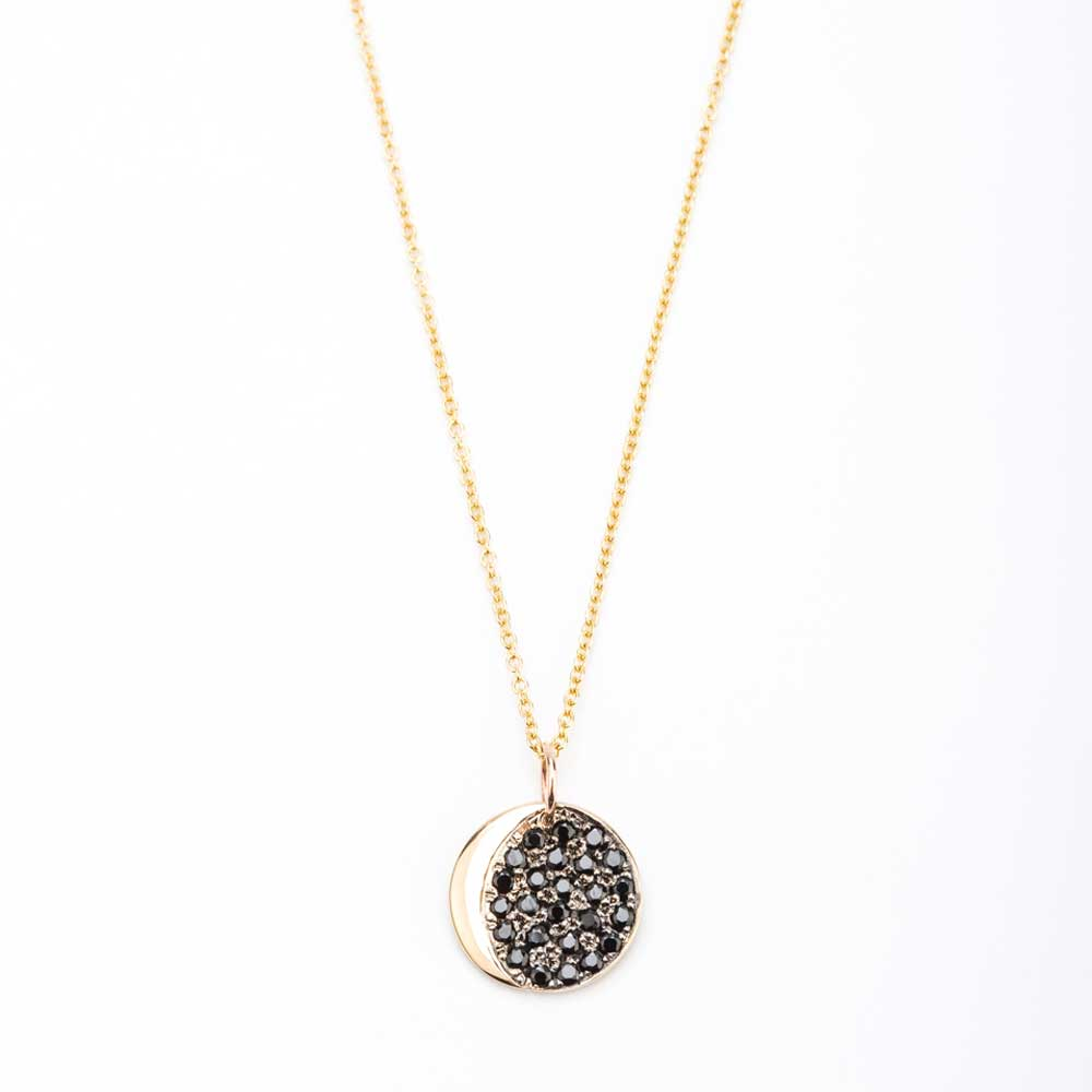 ohm om white diamond necklace gold pendant in necklaces black