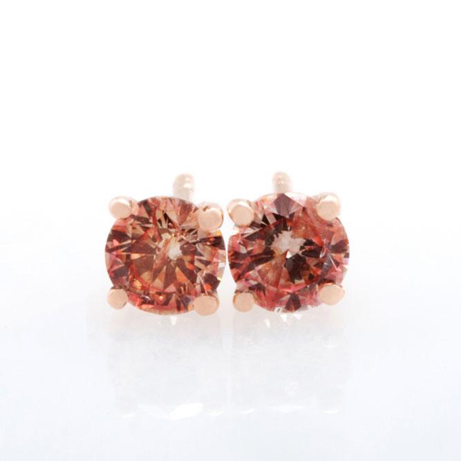 Pink Diamond Stud Earring