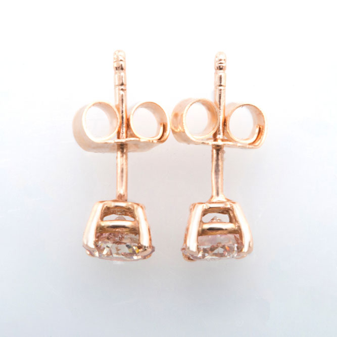 Pink Diamond Stud Earring
