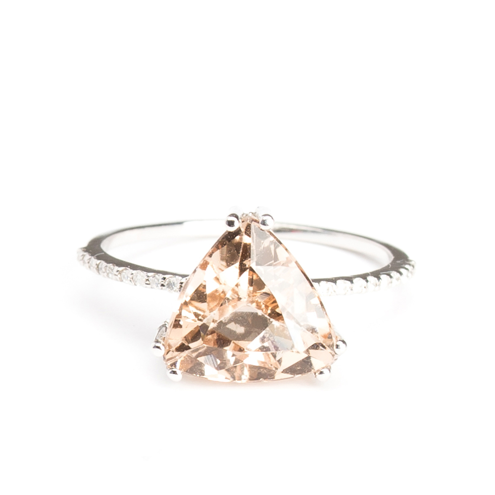 cut plain ring morganite engagement gold natural anniversary il rose solid fullxfull trillion gemstone rings band pink