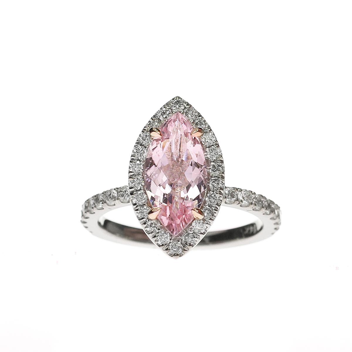 Marquise Cut Pink Morganite Ring Christine K Jewelry